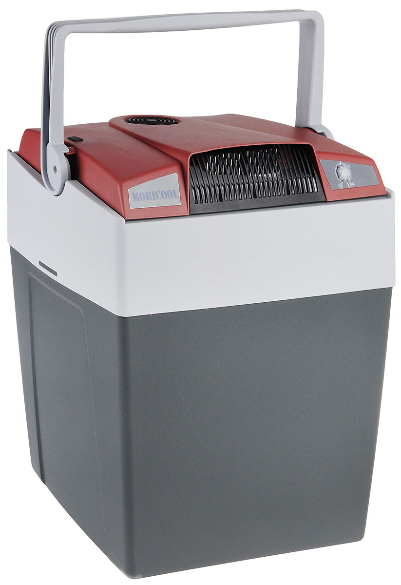 Термоэлектрический мобильный холодильник Mobicool G30 предназначен для сохранности продуктов питания и напитков в летний зной. Объем этого бытового прибора равен 29 литрам. Сумка холодильник охлаждает до 18°С ниже окружающей температуры. Высота сумки холодильника позволяет разместить бутылки объемом 2 литра. Этот холодильник можно использовать как в домашних условиях, так и в автомобиле благодаря наличию двух способов подключения (бортовая сеть автомобиля 12 В и сеть 220 В).Удобная ручка для переноскиУровень шума: 39 дБПотребление энергии: до 48 Вт при 12 В