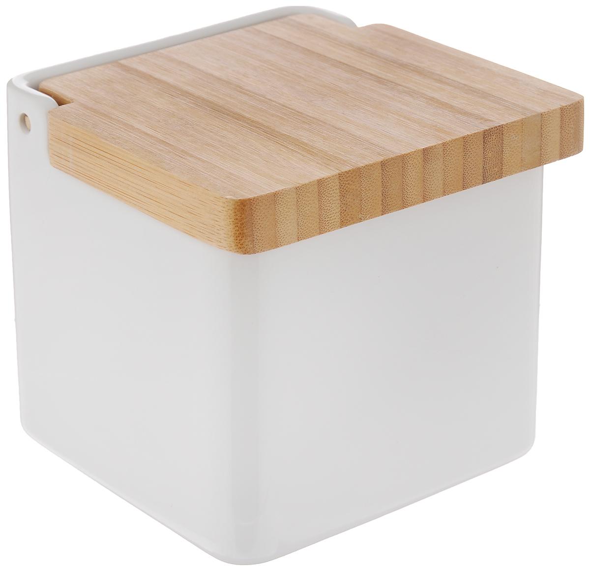 """Емкость для сыпучих продуктов Tescoma """"Online"""" изготовлена из  высококачественной керамики. Крышка выполнена из прочной древесины бамбука.  Продукты дольше остаются свежими и ароматными.  Банка подходит для хранения круп, муки, чая, соли, панировочных сухарей и  многого другого.  Исключительный внешний вид изделия позволяет идеально вписать его в любой  интерьер. Нельзя мыть в посудомоечной машине."""