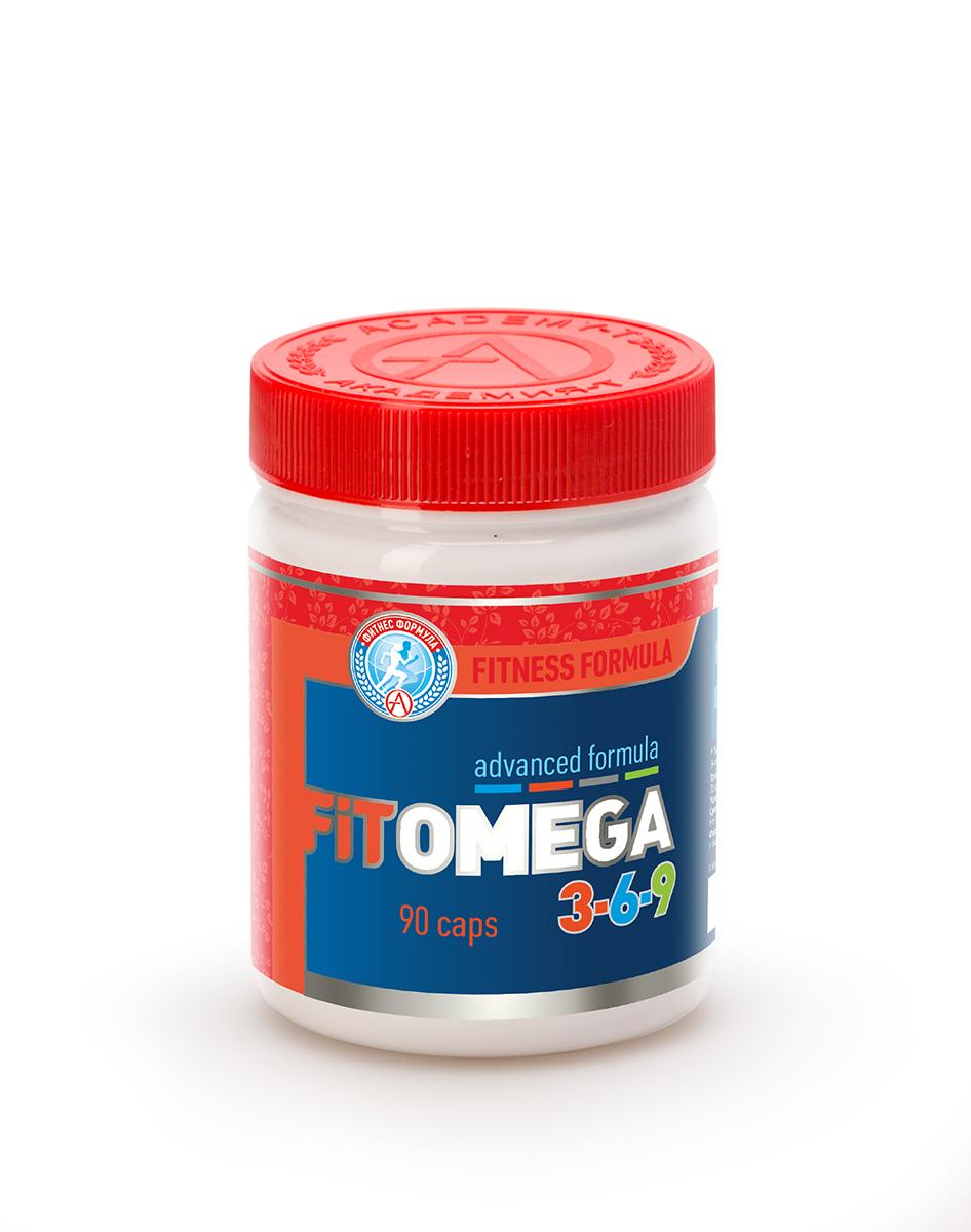 Omega 3 Академия-Т Фит Омега 3-6-9, 90 капсулБП-00000168Fit Omega 3-6-9FIT OMEGA 3-6-9 - высокотехнологичная формула полиненасыщенных жирных кислот, защищенных мощнейшим природным антиоксидантом.Соотношение незаменимых жирных кислот обеспечивает комплексный эффект синергии.С помощью FIT OMEGA 3-6-9 вы сможете восполнить суточную потребность во всех незаменимых жирных кислотах.Fit Omega 3-6-9 (Фит Омега 3-6-9) компенсирует несбалансированность рациона питания и обладает следующим физиологическим спектром действия: увеличение скорости обмена веществ; улучшение реологических свойств крови, за счет снижения вязкости, вследствие чего снижается артериальное давление, уменьшается риск кардио-васкулярных заболеваний, образования тромбов, инсультов и инфарктов; снижение уровня триглицеридов в крови, что приводит к снижению риска сердечных заболеваний; стимулирование выработки АТФ для клеток сердца; повышение общего тонуса и выносливости; снижение веса; повышение иммунитета; улучшение функции мозга, поднятие настроения. Мозговое вещество состоит на 60% из жиров, и особенно нуждается в полиненасыщенных жирных кислотах, чтобы правильно функционировать;Активные ингредиенты FIT OMEGA 3-6-9 и их действие:ОМЕГА 3 – нормализует липидный состав, улучшает реологические свойства крови, нормализует артериальное давление. Оказывает иммуномодулирующее, противовоспалительное, антиаритмическое действие. Поднимает общий тонус организма, повышает выносливость, ускоряет восстановление после нагрузок.ОМЕГА 6 - поддерживает нормальное состояние клеточных мембран, улучшает жировой обмен. Способствует здоровому функционированию мозга, снижает уровень холестерина.ОМЕГА 9 – регулирует уровень глюкозы в крови. Укрепляет иммунную систему, повышает противовоспалительные функции организма. Снижает риск возникновения онкологических заболеваний.Дигидрокверцетин – природный антиоксидант. Нейтрализует действие свободных радикалов, препятствует их повреждающему действию; тормозит преждевременное старение кле