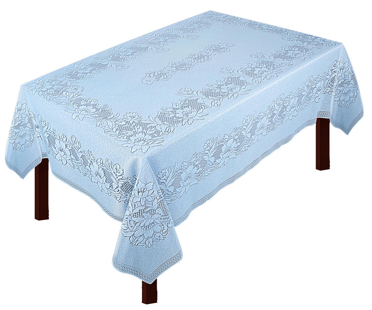 Скатерть Zlata Korunka, прямоугольная, цвет: голубой, 235 х 165 см80004Скатерть выполнена из полиэстеровых волокон, длина235*шир.165