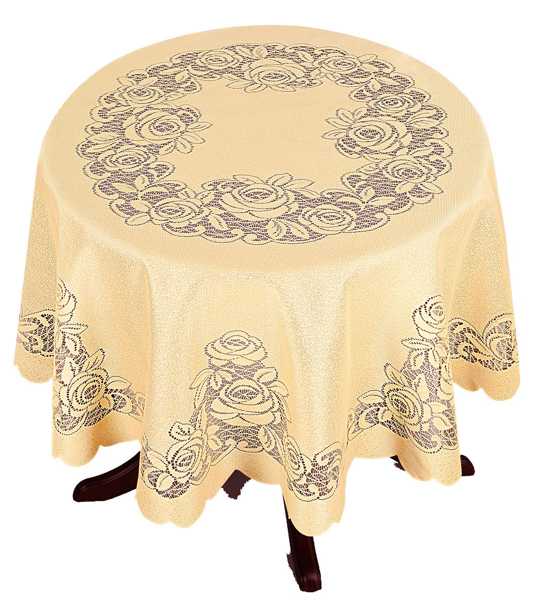Скатерть Zlata Korunka, круглая, цвет: золотистый, диаметр 175 см36051_бордовый, желтый, зеленыйВеликолепная скатерть Zlata Korunka, выполненная изполиэстера, органично впишется винтерьер любого помещения, а оригинальный дизайнудовлетворит даже самый изысканный вкус. Она создастпраздничное настроение и станет прекрасным дополнениеминтерьера гостиной, кухни или столовой.