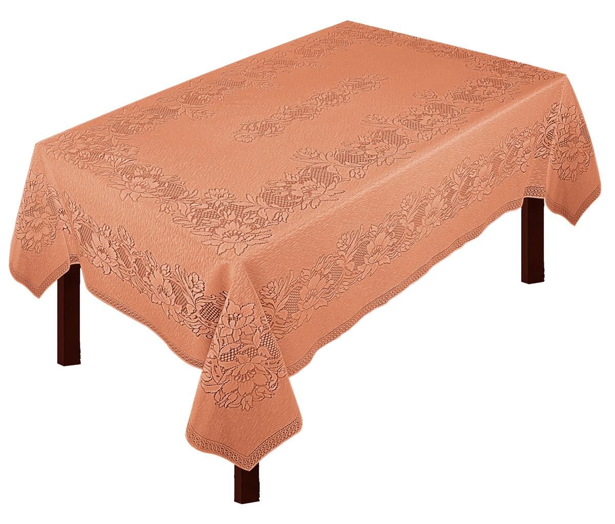 Скатерть Zlata Korunka, прямоугольная, цвет: терракотовый, 235 х 165 см80010Скатерть выполнена из полиэстеровых волокон, длина235*шир.165