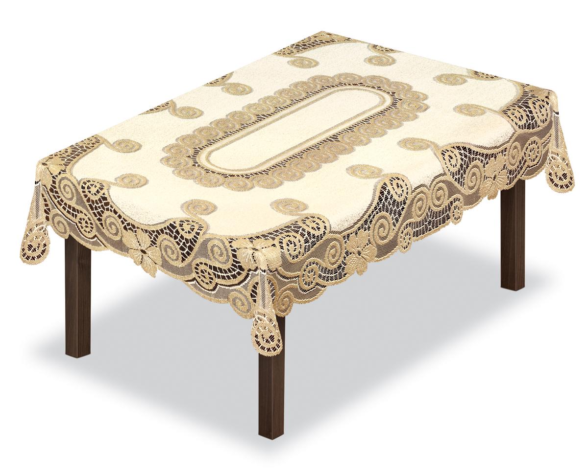 Скатерть Haft, прямоугольная, цвет: кремовый, золотистый, 100 х 150 см230339/100Великолепная прямоугольная скатерть Haft, выполненная из полиэстера, органично впишется в интерьер любого помещения, а оригинальный дизайн удовлетворит даже самый изысканный вкус. Скатерть выполнена в европейском стиле, имеет жаккардовое плетение.