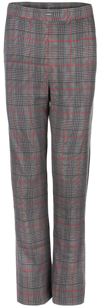 Брюки мужские Lowry, цвет: серый, красный. MTL-2. Размер S (44-34) плавки мужские lowry цвет черный фиолетовый msb 1 размер l 48