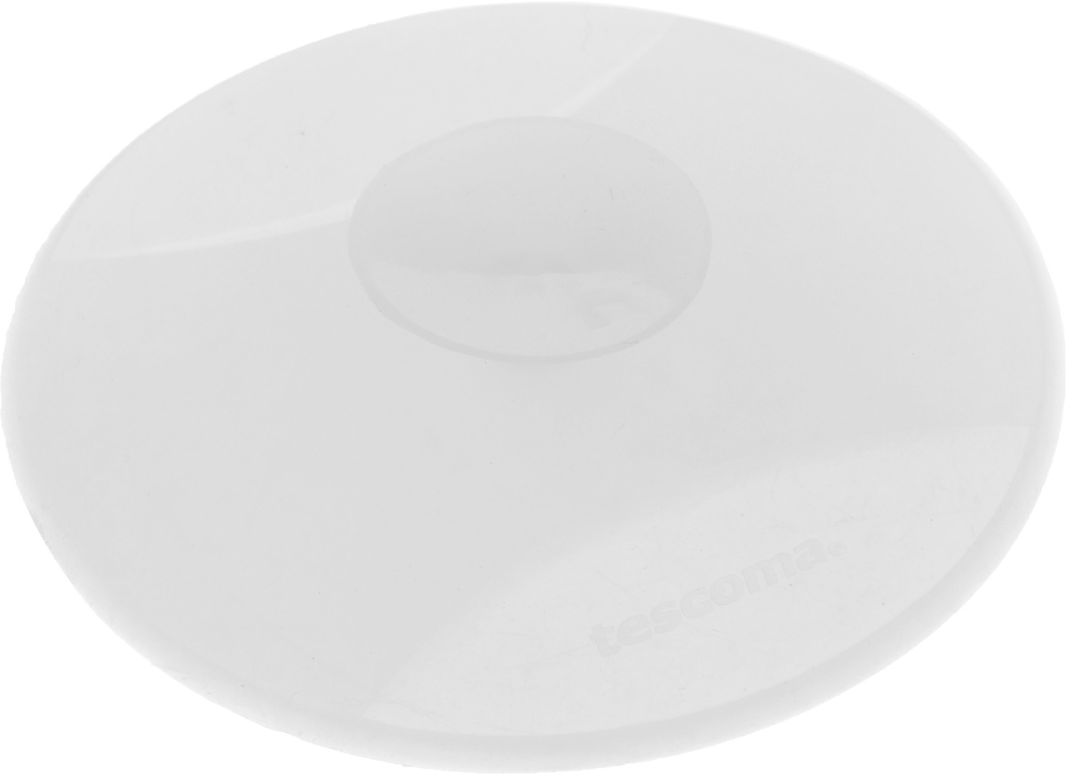 Заглушка для кухонной мойки Tescoma Clean Kit, универсальная, цвет: прозрачный, диаметр 11 см900636_прозрачныйЗаглушка для кухонной мойки Tescoma Clean Kit изготовлена из высококачественного силикона. Она отлично подходит для водонепроницаемой герметизации раковины. Устойчива к кипящей воде. После использования, прикрепите на бок раковины, используя присоску. Можно мыть в посудомоечной машине.Диаметр заглушки: 11 см.