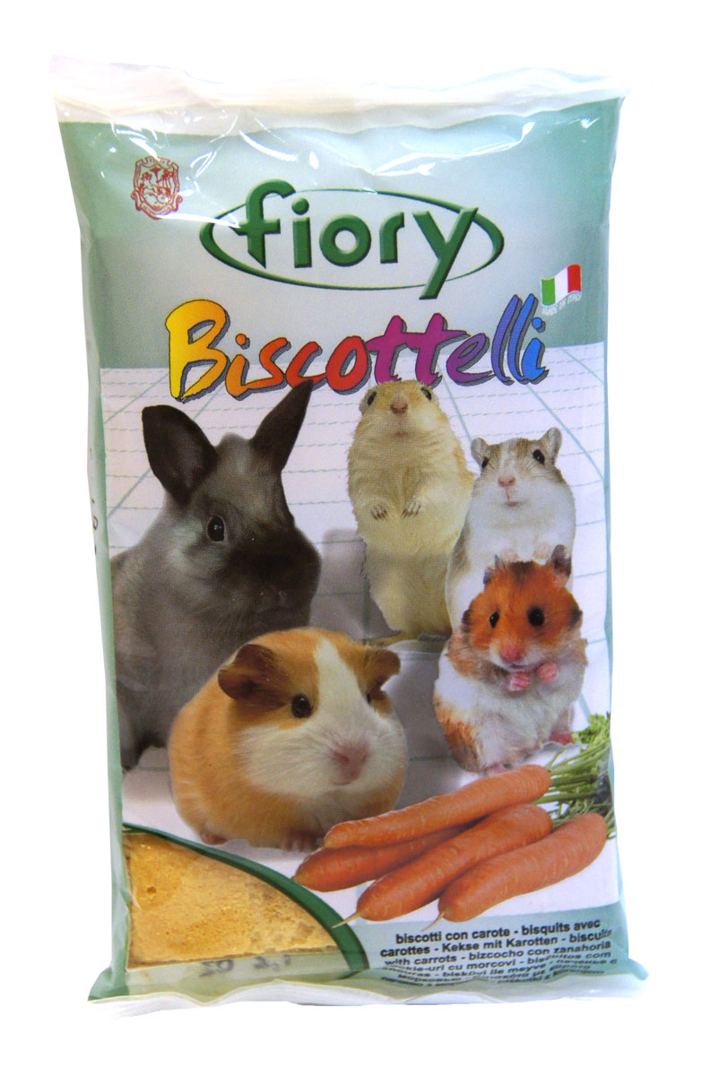 Бисквиты для грызунов Fiory Biscottelli, с морковью, 30 г fiory fiory опилки для грызунов woody 14 л