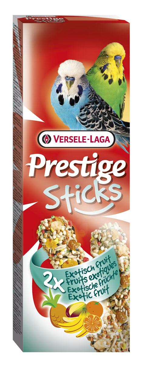 Палочки для волнистых попугаев Versele-Laga Prestige, с экзотическими фруктами, 2 х 30 г верселе лага лакомство палочки c фруктами для кроликов и морских свинок versele laga crispy sticks fruit 55 г