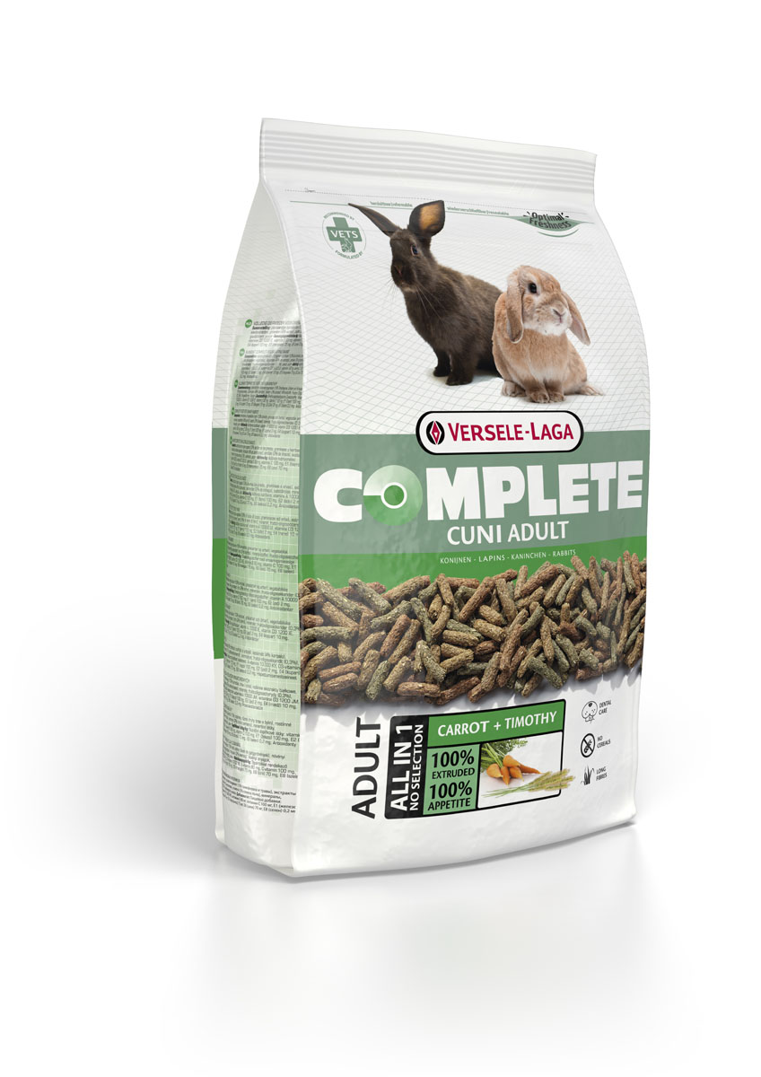 Корм для кроликов Versele-Laga Complete Cuni, 1,75 кг461328Полноценный и вкусный корм для (карликовых) кроликов. Состоит из экструдированных гранул. Содержит компоненты, которые способствуют естественному стачиванию зубов кроликов и обеспечивает здоровье полости рта. Одним из важных ингредиентов корма является клетчатка. Она необходима вашему питомцу для наиболее эффективного усвоения пищи. С кормом Cuni Complete ваш карликовый кролик будет всегда отлично себя чувствовать.Корм упакован в пакеты весом 1750 г. Белок 14,0%, Жир 3,0%, Сырая клетчатка 20,0%, Сырая зола 7,0%, Кальций 0,6%, Фосфор 0,4%, Витамин А 10.000 МЕ/кг, Витамин D3 1.500 МЕ/кг, Витамин E 30 мг/кг, Витамин C 100 мг/кг, Сульфат меди (II) 10 мг/кг, Витамин А 10.000 МЕ/кг, Витамин D3 1.500 МЕ/кг, Витамин E 30 мг/кг, Витамин C 100 мг/кг, Сульфат меди (II) 10 мг/кг.