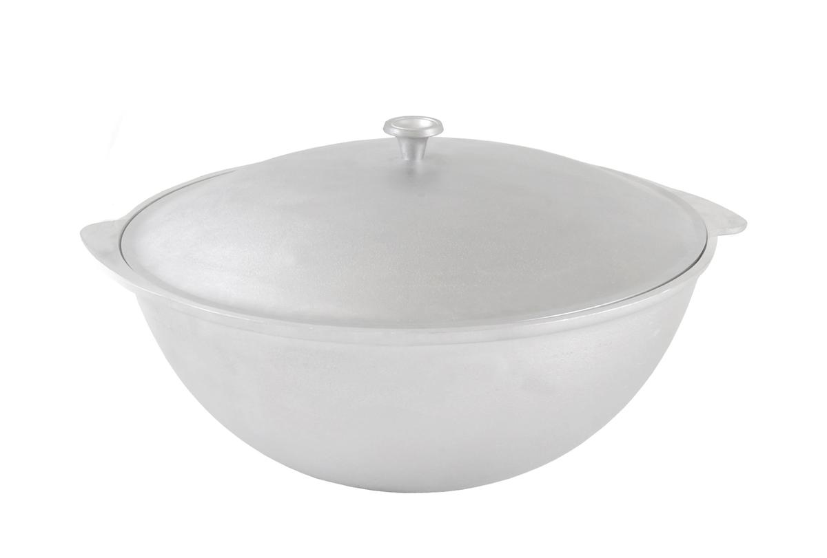 """Казан для плова """"Kukmara"""" изготовлен из литого алюминия. Особенности казана """"Kukmara"""": - утолщенные стенки корпуса и дна исключают любой тип деформации: от перегрева, падения, долгого использования;- равномерное распределение тепла; - эргономичность - длительное сохранение тепла посуды;- долгий срок службы;- высокая прочность посуды.Прежде чем начать пользоваться новой алюминиевой посудой следует вымыть посуду теплой водой с моющим средством и тщательно промыть проточной водой. В алюминиевой посуде нельзя хранить квашеную капусту, соленые огурцы, грибы и т.п.Нельзя мыть алюминиевую посуду средствами с повышенной щелочностью (в том числе кальцинированной содой)."""