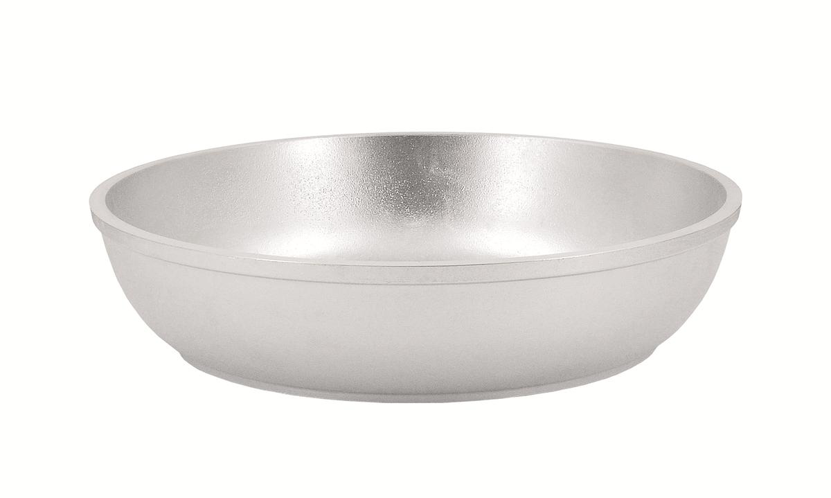 Сковорода Kukmara, 260/60мм (с утолщенным дном) без ручки, литой алюминийс261Особенности: - утолщенные стенки корпуса и дна исключают любой тип деформации: от перегрева, падения, долгого использования;- равномерное распределение тепла; - эргономичность - длительное сохранение тепла посуды;- долгий срок службы;- высокая прочность посуды.Прежде чем начать пользоваться новой алюминиевой посудой следует вымыть посуду теплой водой с моющим средством и тщательно промыть проточной водой.В алюминиевой посуде нельзя хранить квашеную капусту, соленые огурцы, грибы и т.п.Нельзя мыть алюминиевую посуду средствами с повышенной щелочностью (в том числе кальцинированной содой).