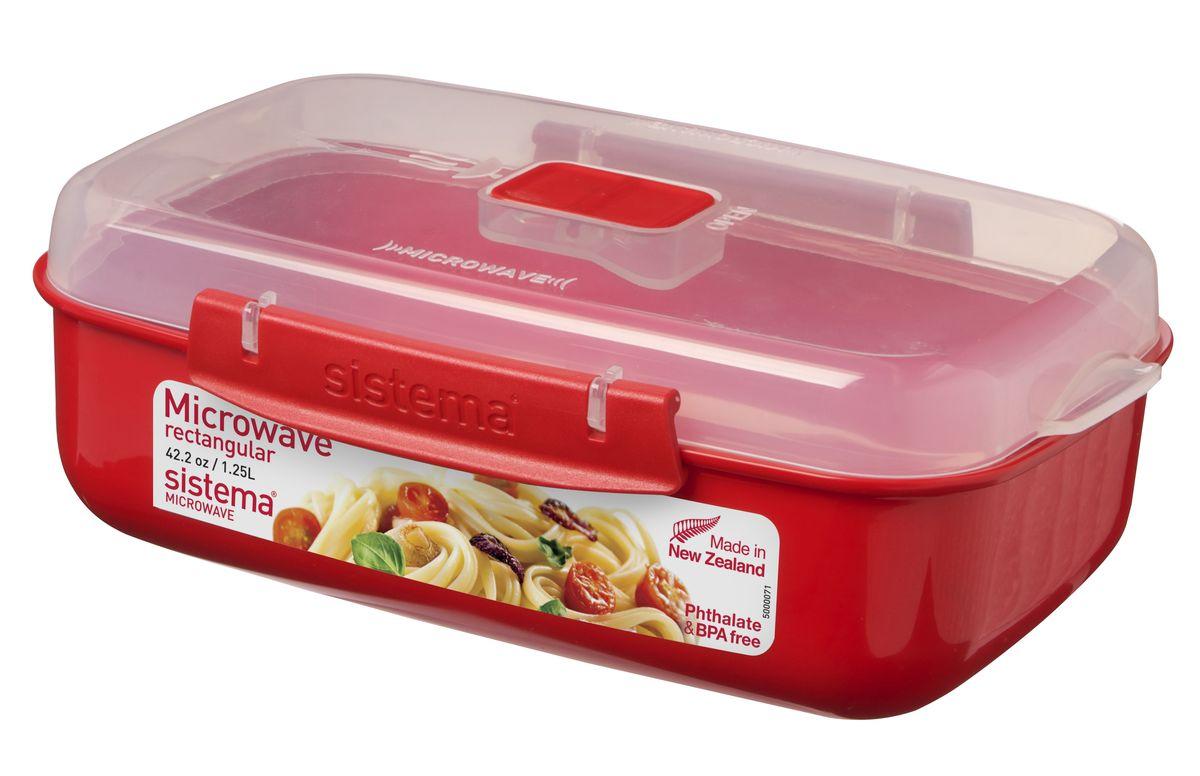 Контейнер прямоугольный Sistema Microwave, 1,25 л1114В контейнере Sistema Microwave вы с легкостью сможете не только разогреть пищу в СВЧ, но и приготовить ее. Контейнер надежно закрывается клипсами, которые при необходимости можно заменить. Крышка с силиконовой прокладкой герметично закрывается, что помогает дольше сохранить полезные свойства продуктов.Можно мыть в посудомоечной машине.