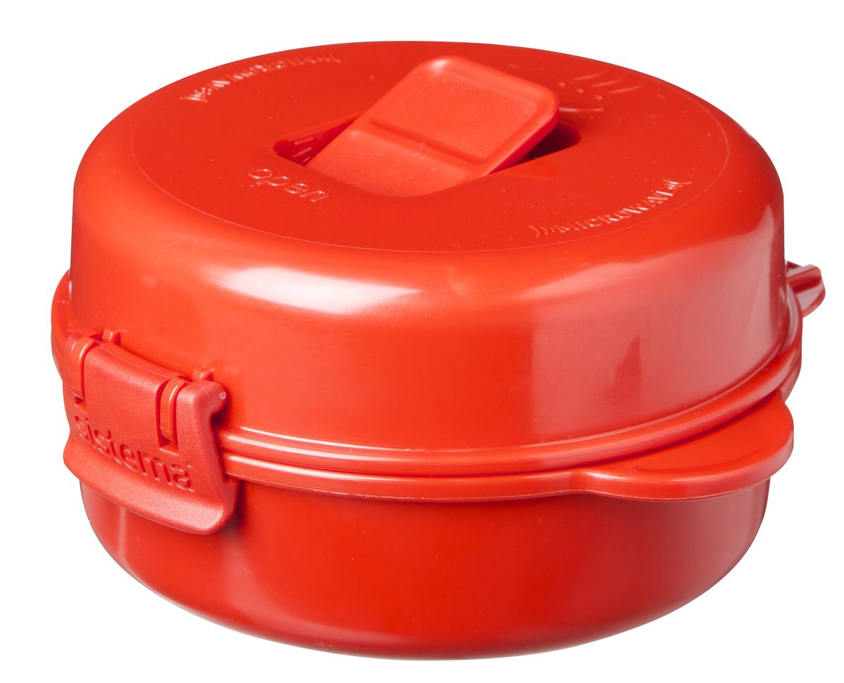 Омлетница-яйцеварка Sistema Microwave, цвет: красный, 271 мл1117Используя высококачественный контейнер омлетницу-яйцеварку Sistema Microwave, с легкостью можно приготовить омлет с ломтиками бекона, яичницу с картофельными шариками, яйцо-пашот, и многое другое.Разместив продукты в контейнер, закройте герметичную крышку, откройте клапан и поместите все в СВЧ. Через несколько минут вы сможете насладиться вкусным блюдом. Время приготовления может варьироваться в зависимости от мощности СВЧ.Можно мыть в посудомоечной машине.