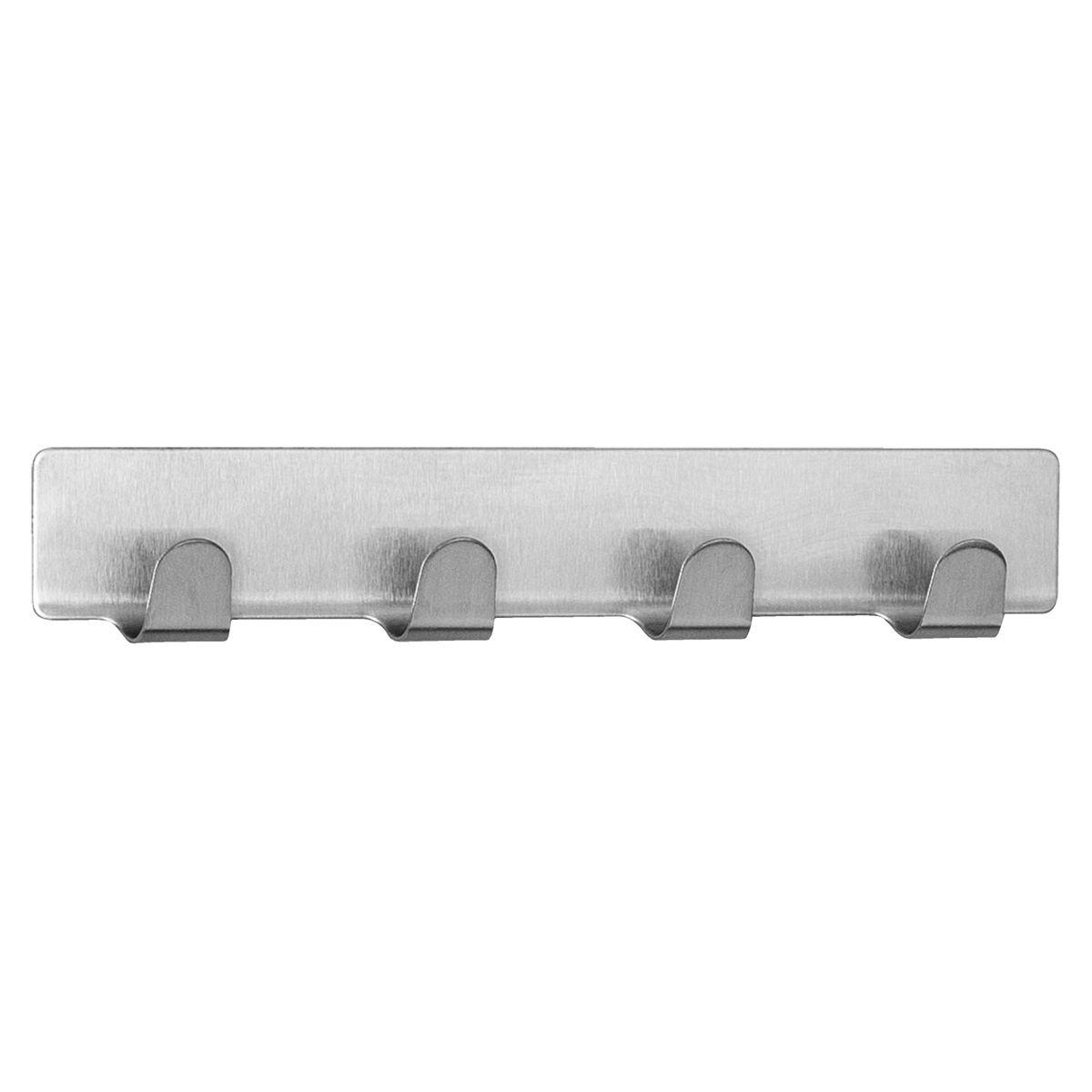 Самоклеящаяся планка Tatkraft Fyra, с четырьмя крючками, 16 х 2,5 см tatkraft mega lock