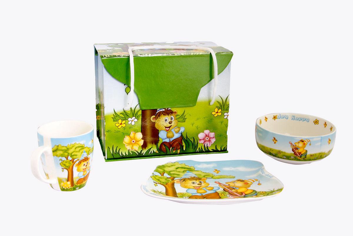 Rosenberg Набор детской посуды 87743807000141Набор детской посуды Rosenberg:плоская тарелка 17.5 х 15 см,глубокая тарелка 12.5 х 12.5 см, 300 млкружка 175 млМатериал: керамика