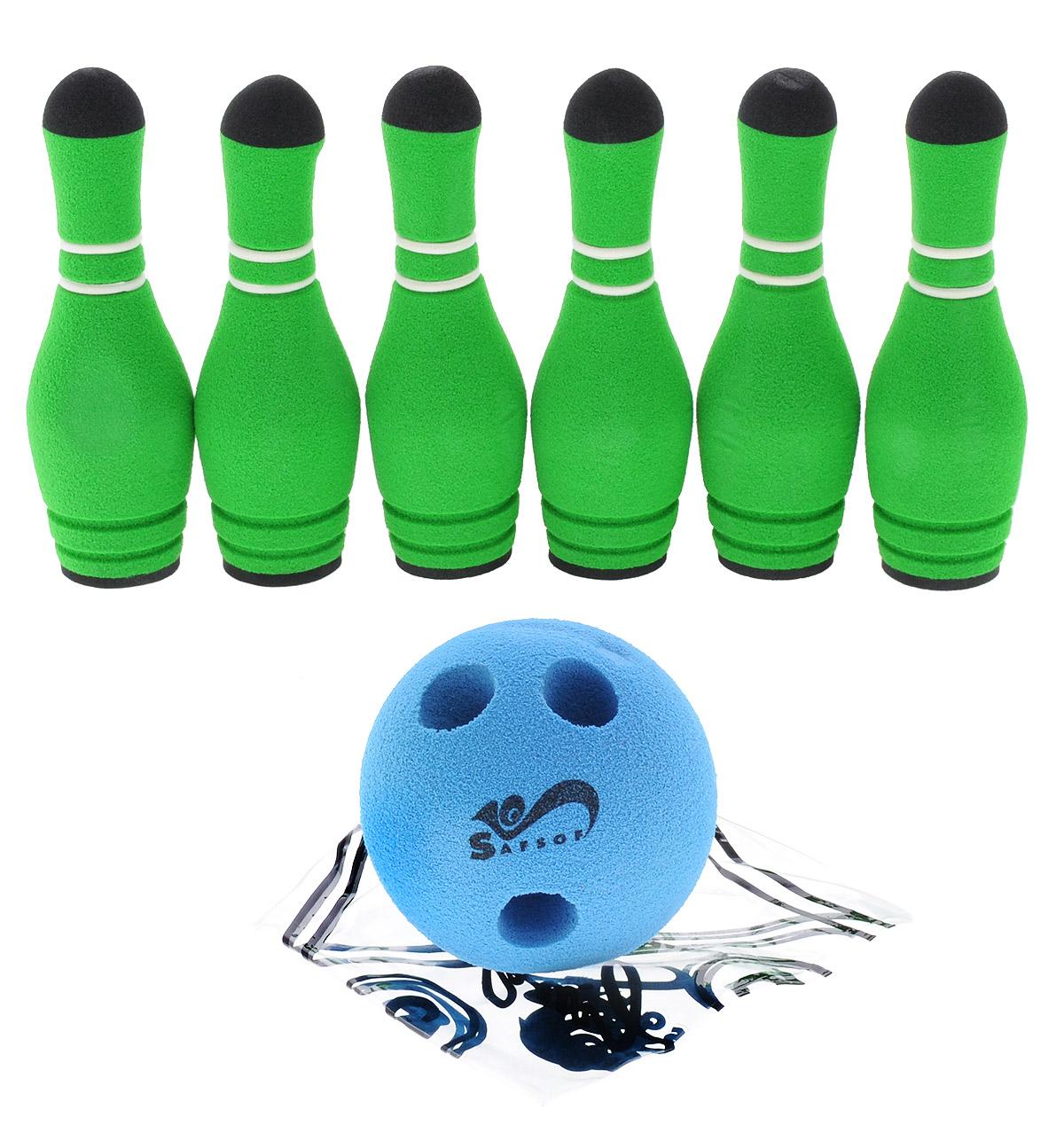 Safsof Игровой набор Мини-боулинг цвет голубой зеленый