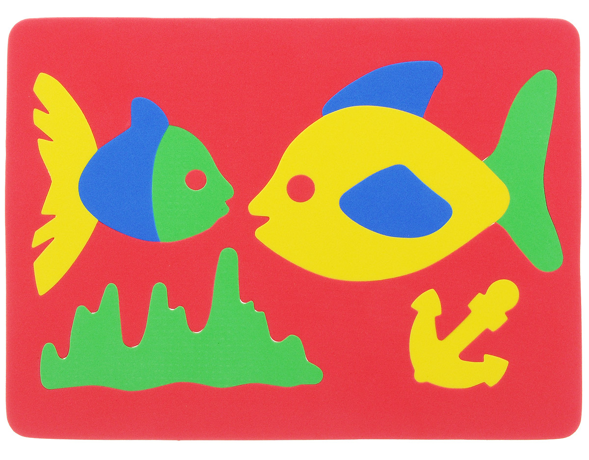 Фантазер Пазл для малышей Рыбки цвет основы красный бомик пазл для малышей цифры цвет основы красный