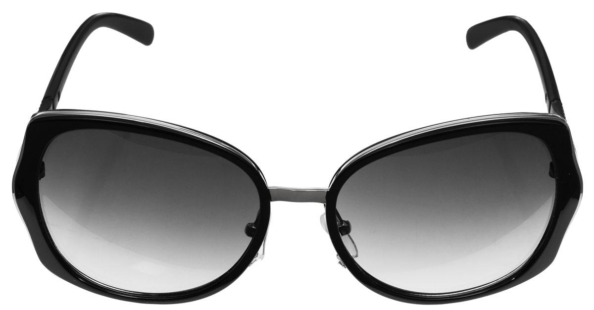 Очки солнцезащитные женские Baon, цвет: черный. B965003B965003Солнцезащитные очки Baon с линзами из высококачественного пластика, оправа оформлена элементами из металла.Используемый пластик не искажает изображение, не подвержен нагреванию и вредному воздействию солнечных лучей, защищает от бликов, повышает контрастность и четкость изображения, снижает усталость глаз и обеспечивает отличную видимость. Линзы имеют степень затемнения Cat. 2.Оправа очков легкая, прилегающей формы, дополнена носоупорами и поэтому не создает никакого дискомфорта.Такие очки защитят глаза от ультрафиолетовых лучей, подчеркнут вашу индивидуальность и сделают ваш образ завершенным.