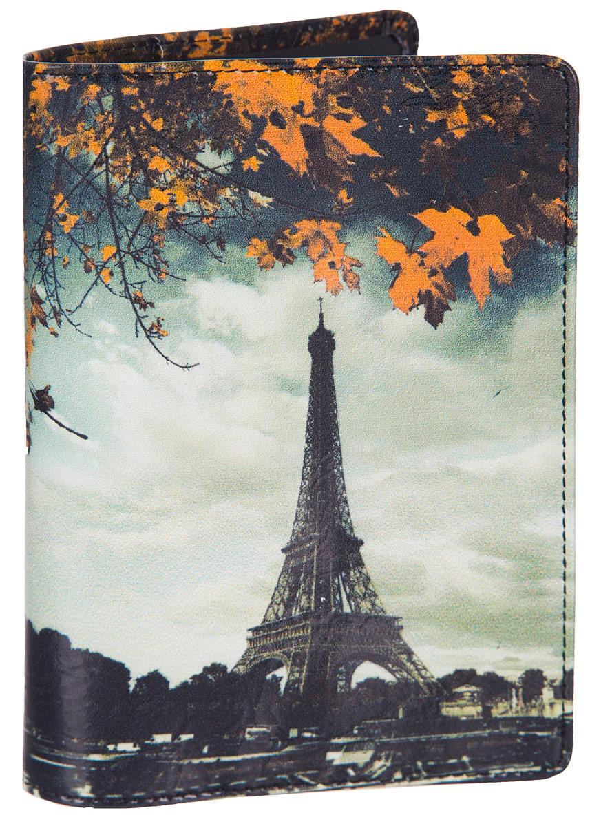 Обложка для паспорта Flioraj Париж, цвет: белый, черный, оранжевый. 0005094900050949Обложка для паспорта Flioraj не только поможет сохранить внешний вид ваших документов и защитить их от повреждений, но и станет стильным аксессуаром, идеально подходящим вашему образу.Обложка выполнена из натуральной кожи и оформлена ярким фотопринтом Париж. Внутри имеет два вертикальных кармана из прозрачного пластика. Такая обложка поможет вам подчеркнуть свою индивидуальность и неповторимость! Обложка для паспорта стильного дизайна может быть достойным и оригинальным подарком.
