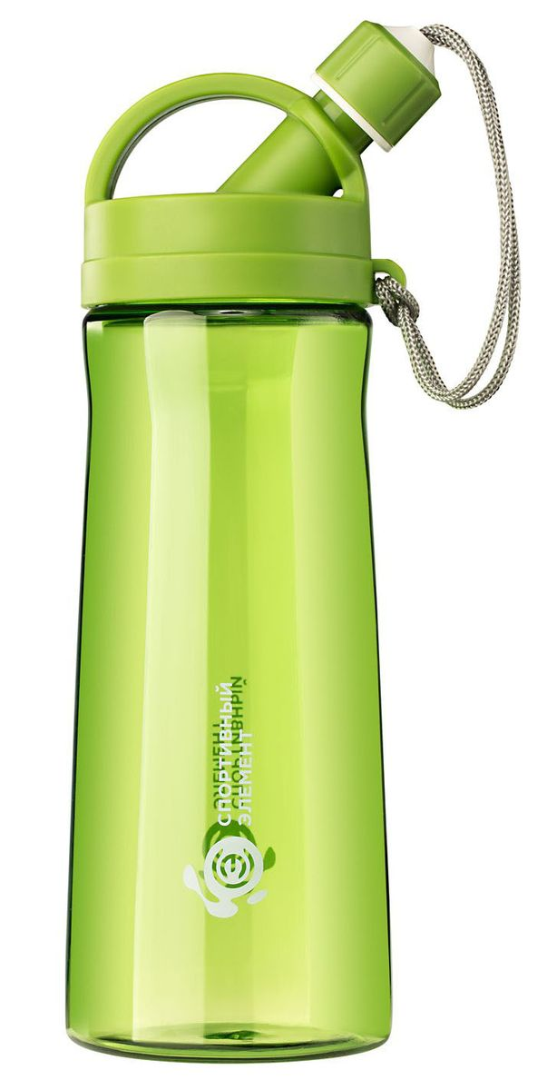 Бутылка для воды Спортивный элемент Хризолит, 550 мл. S06-55002B4G006340-4GBСтильная бутылка для воды Спортивный элемент Хризолит изготовлена из нового вида пластика - тритана, который легче и прочнее полипропилена, а выглядит как стекло.Носик бутылки закрывается крышкой, благодаря чему содержимое бутылки не прольется, и дольше останется свежим.Удобная бутылка пригодится как на тренировках, так и в походах или просто на прогулке.Как повысить эффективность тренировок с помощью спортивного питания? Статья OZON Гид