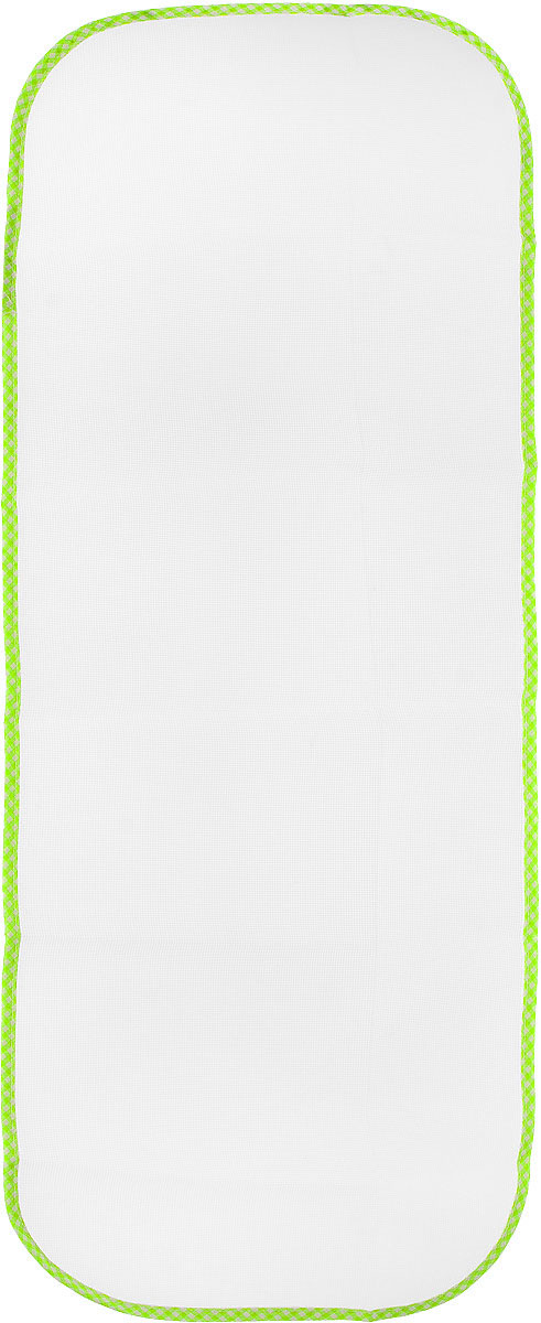 Сетка для глажения Хозяюшка Мила Silk & Wool, цвет: салатовый, белый, 35 х 90 см47002_47002_салатовая клеткаСетка для глажения Хозяюшка Мила Silk & Wool выполнена из 100% лавсана. Изделие подходит для одежды из шелка, шерсти и трикотажа. Прекрасная современная альтернатива марлевой тряпочке, которую использовали наши мамы и бабушки. Аккуратная сетка с оптимальным размером плетения станет незаменимым помощником при глажке белья. Сетка защищает белье от прижигания, исключает контакт горячего утюга с тканью, позволяет быстро и ровно сделать стрелки на брюках. Предназначена для температурного режима Silk & Wool.