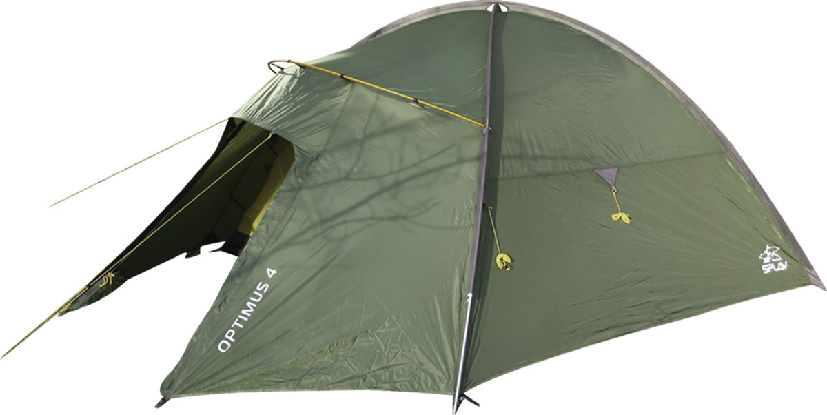 Палатка Сплав Optimus 4, цвет: зеленый5057950Сплав Octopus 4 - это четырехместная палатка на внешних дугах. Дуги изготовлены из алюминиевого сплава, а палатка и тент из прочного полиэстера. Изделие очень комфортное. Возможна как отдельная установка тента без внутренней палатки, так и установка палатки в сборе с пристегнутой внутренней палаткой. Вход и вентиляция внутренней палатки продублированы противомоскитной сеткой. Вентиляционное отверстие над внутренней палаткой можно открывать и закрывать, не выходя из палатки. Тамбур собирается на отдельной консольной дуге. Козырек вентиляции над входом служит хорошей защитой от дождя. Веревки оттяжек имеют вплетенную светоотражающую нить. Швы тента и дна проклеены. Количество мест: 3.Количество дуг: 3 шт.Размеры внешней палатки, тента: 320 х 230 х 140 см.Размеры спального места: 210 х 210 х 130 см.Размеры в упакованном виде: 54 х 20 х 20 см.Полный вес: 4,19 кг.Минимальный вес (без чехла и колышков): 3,98 кг.Что взять с собой в поход?. Статья OZON Гид