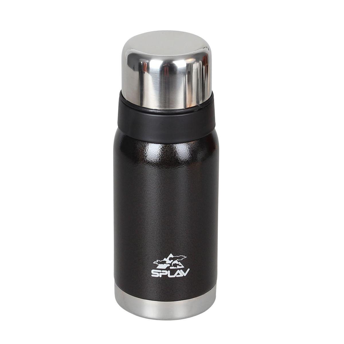 Небьющийся термос для напитков.С двойными стенками и вакуумной изоляцией.Резьбовая крышка-клапан со специальным желобом, позволяет выливать содержимое, не отвинчивая крышку полностью.Поверх основной крышки накручивается крышка-чашка, что позволяет использовать её, не открывая термос.Лёгкий и удобный в переноске. Специальная нержавеющая сталь типа 304 18/8.Вес: 352 гРазмер: 8 х 21 см  Температурные параметры: начальная - 95 С, 6 часов - 75 С, 12 часов - 63 С, 24 часа - 47 С.