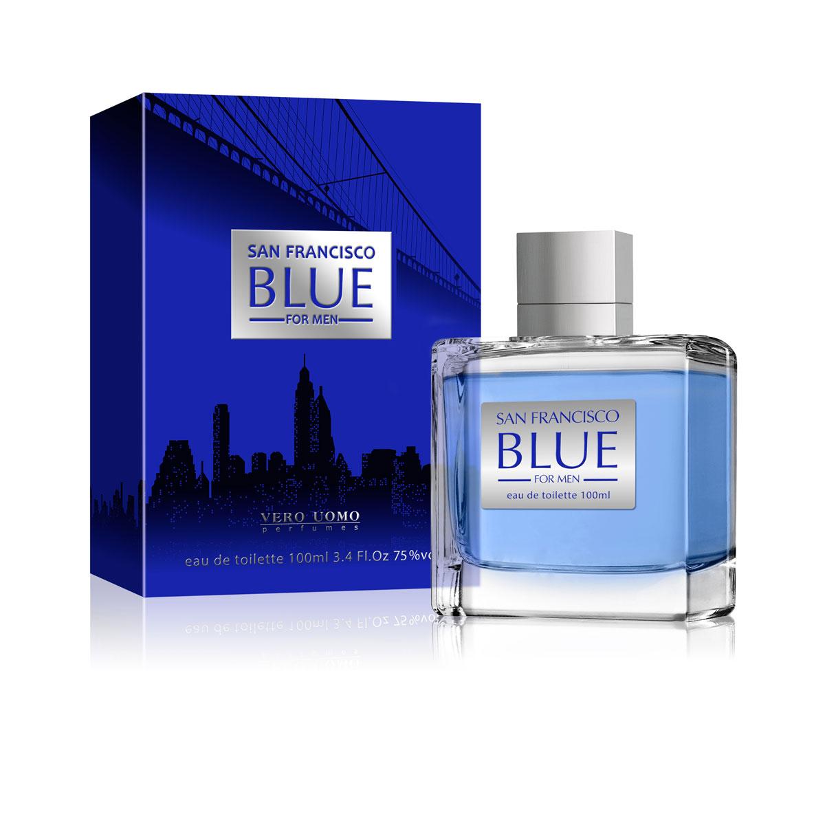 Vero Uomo,Туалетная вода, San Francisco Blue, мужская 100 мл браслеты