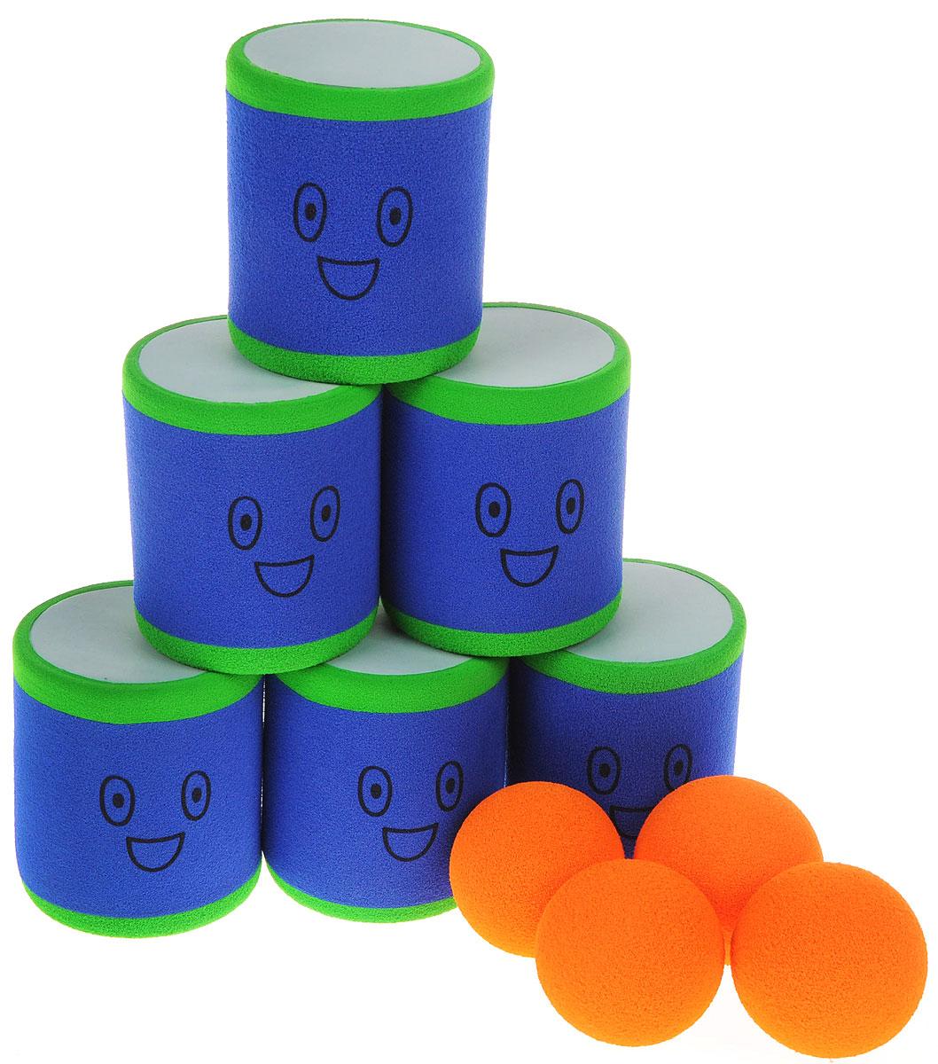 Safsof Игровой набор Городки цвет синий оранжевый зеленый