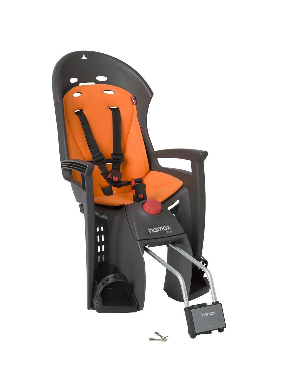Детское кресло Hamax Siesta W/Lockable Bracket, цвет: серый, оранжевый