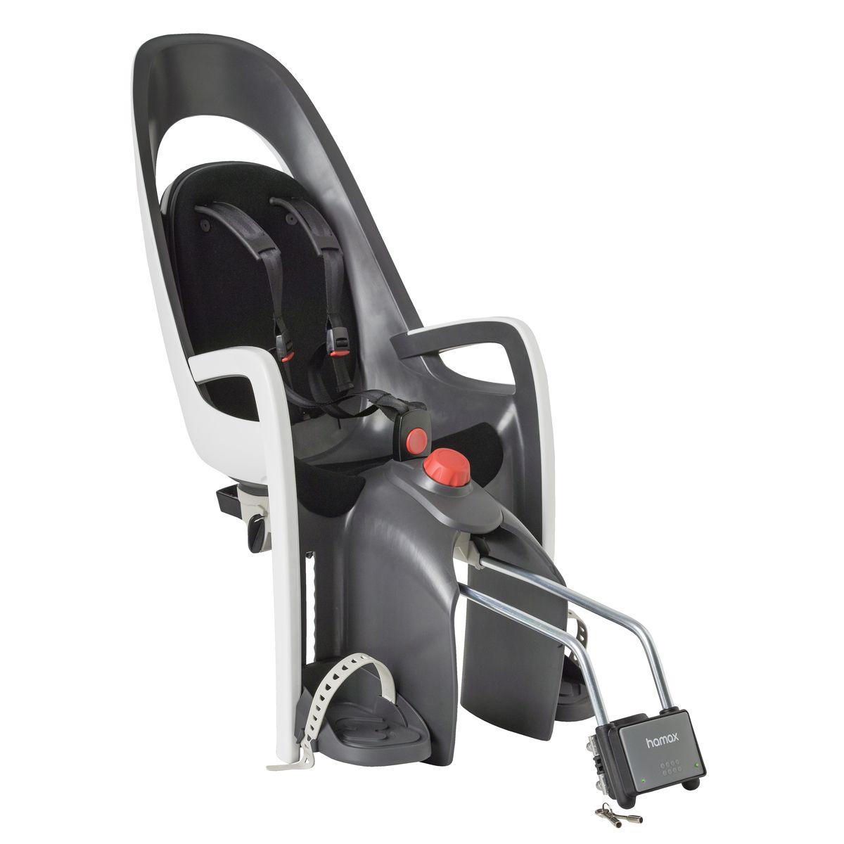 Детское кресло Hamax Caress W/Lockable Bracket, цвет: серый, белый, черный