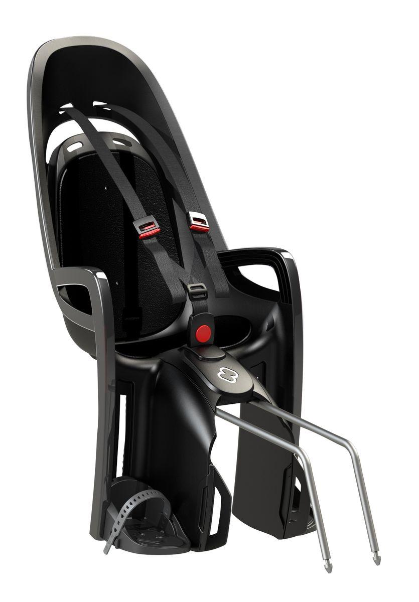 Детское кресло Hamax Caress Zenith, цвет: серый, черный553034Отличительные особенности Hamax Zenith от Hamax это отсутствие регулировки угла наклона кресла. Если Вам не нужна данная функция - нет смысла покупать топовую модель. Дополнительные мягкие пряжки для фиксации ребенка в кресле очень легкие и комфортные, но при этом обеспечивают надежную фиксацию ребенка в велокресле, позволяя при необходимости совершать резкие маневры и торможения. Эргономика велокресла рассчитана так что спинка кресла не будет мешать голове ребенка в моменты когда он хочет откинуться назад кресла в шлеме. Механизмы регулировки застежек позволяют комфортно отрегулировать их вместе с ростом ребенка. Все детские велосиденья Hamax растут вместе с ребенком! Регулируются и ремень безопасности и подножки. Переставляйте детское сиденье для велосипеда между двумя велосипедами.Детское сиденье для велосипеда очень легко крепится и освобождается от велосипеда. Приобретая дополнительный кронштейн, вы можете легко переставлять детское сиденье с одного велосипеда на другой. Hamax рекомендует, что ребенок должен всегда носить шлем при использовании детского сиденья. Особенности модели: - Запираемый кронштейн крепления- Проработанная эргономика кресла для максимально комфортной посадки- 3-точечные ремни безопасности с дополнительным кронштейном для фиксации в районе груди, и обеспечения ребенку безопасной и удобной посадки- Специальная конструкция пряжек ремней безопасности/фиксации для предотвращения саморастегивания ребенка- Простое в использование, полностью соответствующее всем Европейским стандартам безопасности- Возможность установить на велосипеде как с багажником, так и без- Предназначено для детей в возрасте старше 9 месяцев и весом до 22 кг- Регулируемый ремень безопасности и подножки- Регулировка подножек одной рукой- Встроенные отражатели для улучшения видимости кресла- Мягкие плечевые пряжки ремнейВелокресло сертифицировано по: TUV / GS EN14344