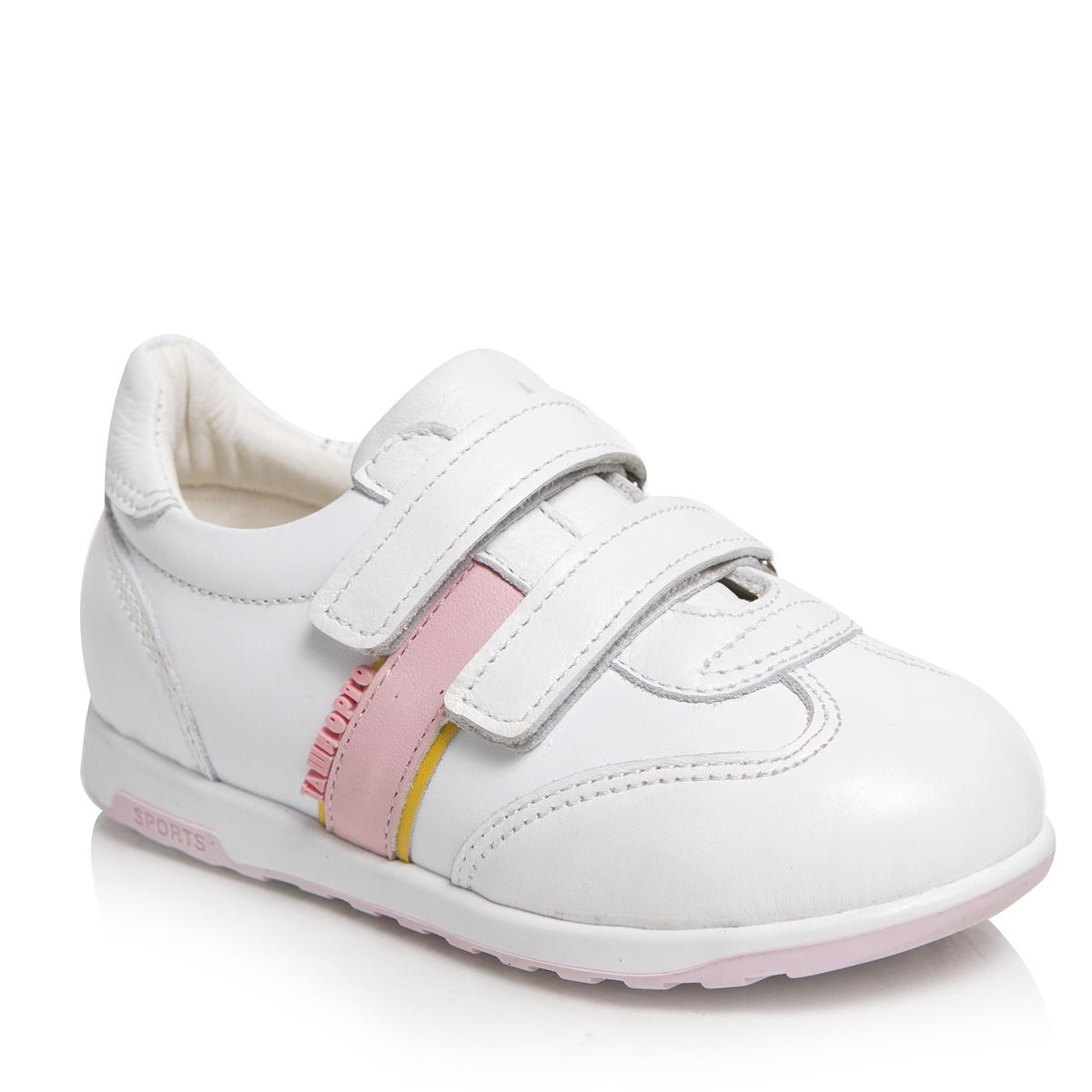 Кроссовки для девочки Таши Орто, цвет: белый, розовый. 271-07. Размер 21 таши орто обувь