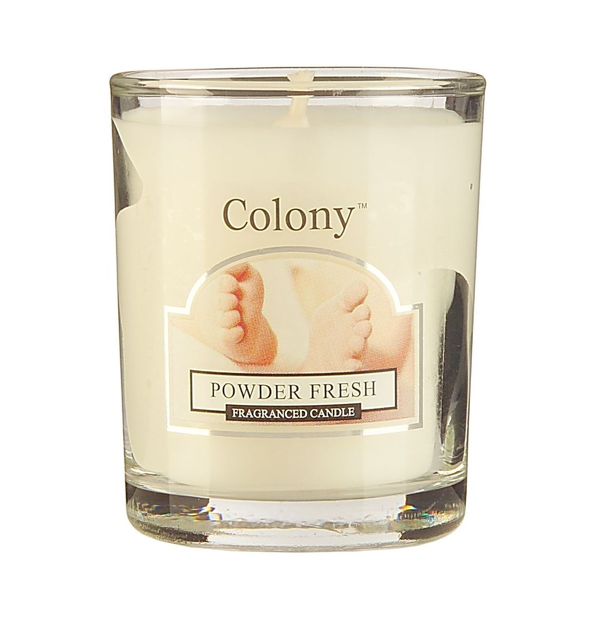 """Свеча ароматическая лампадная Wax Lyrical """"Свежая пудра"""" - это чувственная цветочная композиция на основе ароматных бобов тонка."""