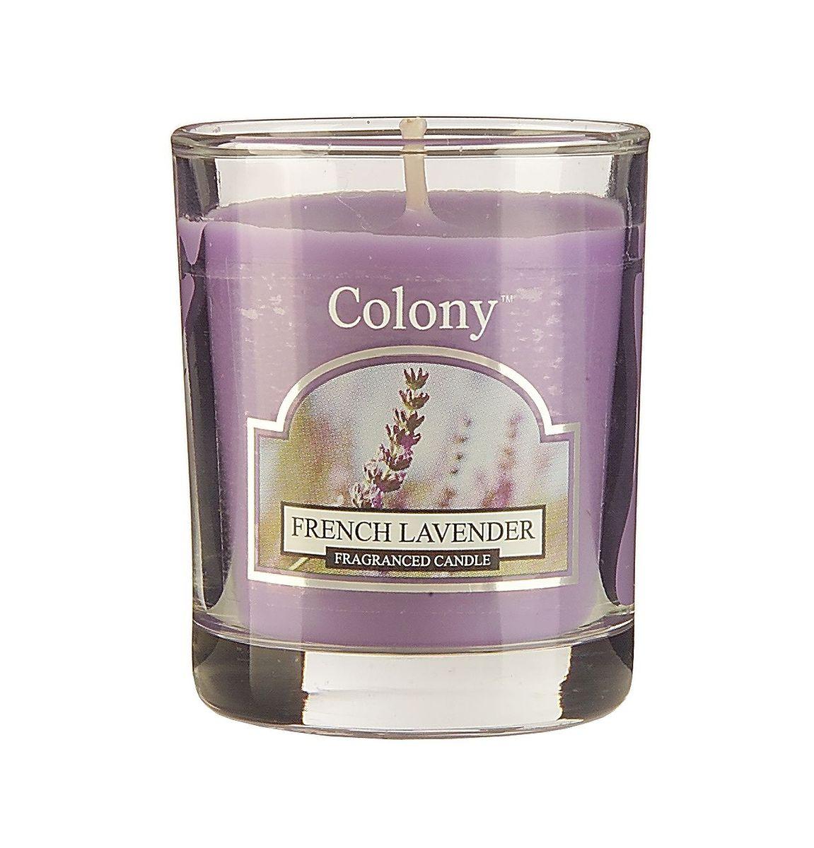 Свеча ароматическая лампадная Wax Lyrical Французская лаванда, 14 часов, 130 гCH3661Свеча ароматическая лампадная Wax Lyrical Французская лаванда имеет аромат лаванды с оттенками эвкалипта и бергамота, расслабляет и успокаивает.