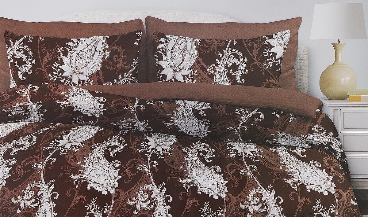 Комплект белья Любимый дом Венера, евро, наволочки 70х70, цвет: коричневый, белый331155_коричневыйКомплект постельного белья Любимый дом Венера состоит из пододеяльника, простыни и двух наволочек. Постельное белье оформлено оригинальным и изящным изображением и имеет изысканный внешний вид.Белье изготовлено из новой ткани Поплин, отвечающей всем необходимым нормативным стандартам. Поплин - натуральная, мягкая, легкая и приятная на ощупь ткань из 100% хлопка. Ткань с особым видом полотняного переплетения, отличие его в репсовом эффекте, то есть образование мелкого рубчика. Неотъемлемым плюсом является долговечность, износоустойчивость материала, но при этом особая мягкость. Уникальная ткань обеспечивает легкую глажку.Приобретая комплект постельного белья Любимый дом Венера, вы можете быть уверены в том, что покупка доставит вам ивашим близким удовольствие и подарит максимальный комфорт.
