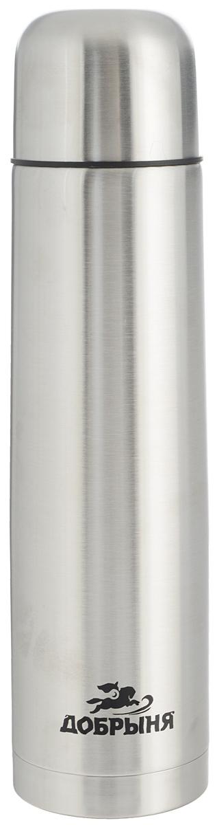 Термос Добрыня, 0,75 л. DO - 1802DO - 1802Дорожный термос Добрыня выполнен из нержавеющей стали с матовой полировкой. Внутренняя колба выполнена из высококачественной нержавеющей стали. Термос имеет вакуумную прослойку между внутренней колбой и внешней стенкой. Специальная термоизоляционная прокладка удерживает тепло. Термос снабжен плотно прилегающей закручивающейся пластиковой пробкой с нажимным клапаном. Для того чтобы налить содержимое термоса нет необходимости откручивать пробку. Достаточно надавить на клапан, расположенный в центре. Легкий и удобный, термос Добрыня станет незаменимым спутником в ваших поездках.Размер термоса (с учетом крышки): 7,5 х 7,5 х 28,5 см.Диаметр крышки (по верхнему краю): 7 см.