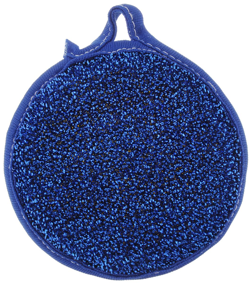 Губка для мытья посуды Youll love, двухсторонняя, для тефлона, цвет: синий, слоновая кость58755_синийГубка для мытья посуды Youll love изготовлена из поролона. Она двухсторонняя: одна сторона выполнена из полипропиленовой металлизированной нити, а другая - из полимерных материалов. Губка подходит для очистки сильно загрязненных кухонных поверхностей, а также для мытья посуды из нержавеющей стали и с тефлоновым покрытием. Материал: полипропиленовая металлизированная нить, поролон, полимерные материалы. Размер губки: 12 см х 12 см х 2,5 см.