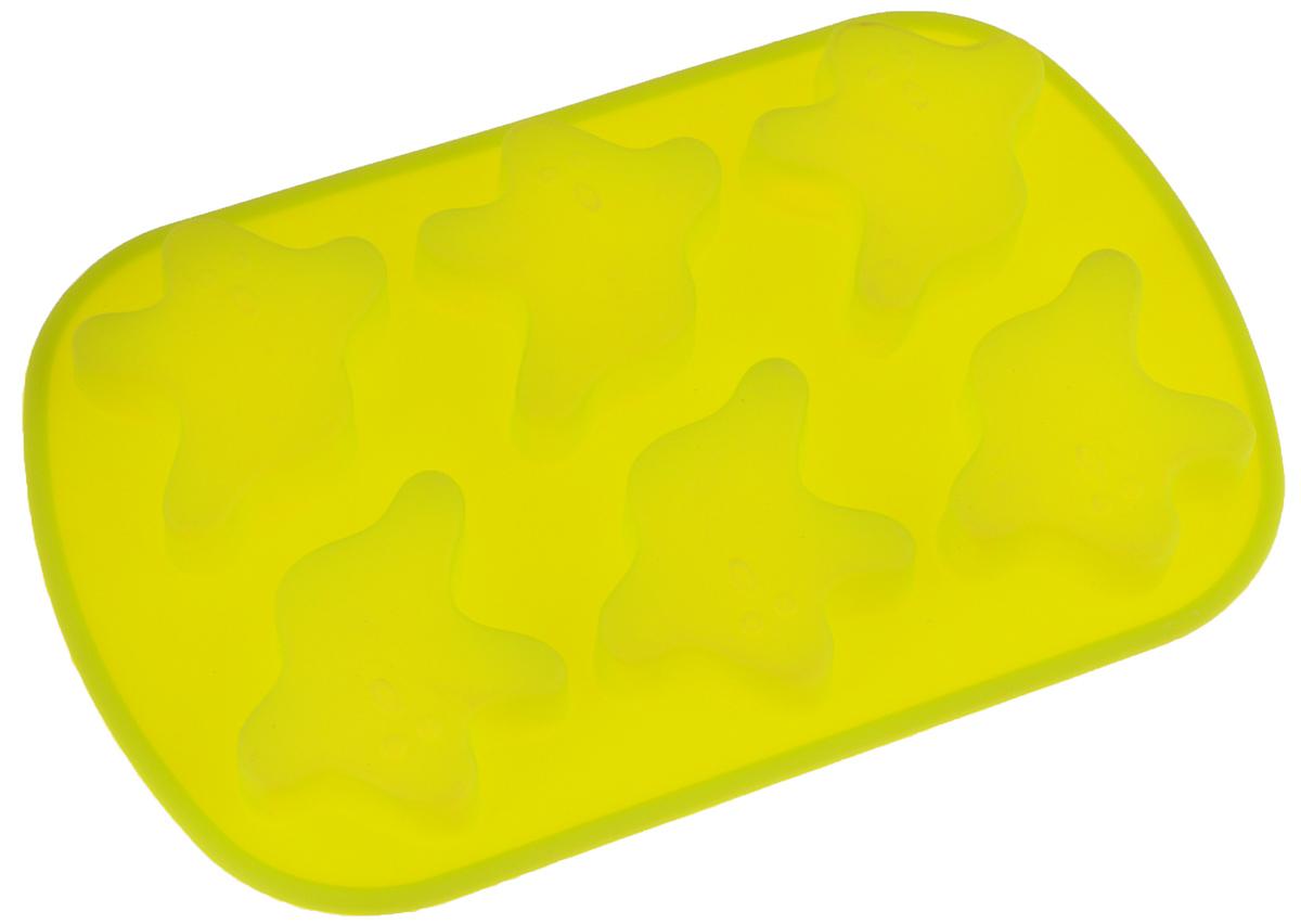Форма для выпечки Mayer & Boch, силиконовая, цвет: салатовый, 6 ячеек, 24 х 16 х 2 см12567_салатовыйФорма для выпечки Mayer & Boch изготовлена из силикона. С ее помощью можно делать выпечку в виде привидений.Силикон - материал, который выдерживает температуру от -40°С до +230°С. Изделия из силикона очень удобны в использовании: пища в них не пригорает и не прилипает к стенкам, форма легко моется. Приготовленное блюдо можно очень просто вытащить, просто перевернув форму, при этом внешний вид блюда не нарушится. Изделие обладает эластичными свойствами: складывается без изломов, восстанавливает свою первоначальную форму. Порадуйте своих родных и близких любимой выпечкой в необычном исполнении. Подходит для приготовления в микроволновой печи и духовом шкафу при нагревании до +230°С; для замораживания до -40°.Можно мыть в посудомоечной машине.Размер одной ячейки: 7 х 6,4 х 1,5 см.