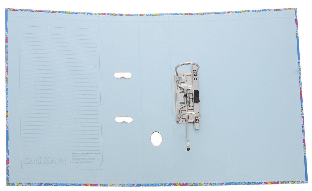 Erich KrauseПапка-регистратор с арочным механизмом Enigma цвет синий розовый Erich Krause
