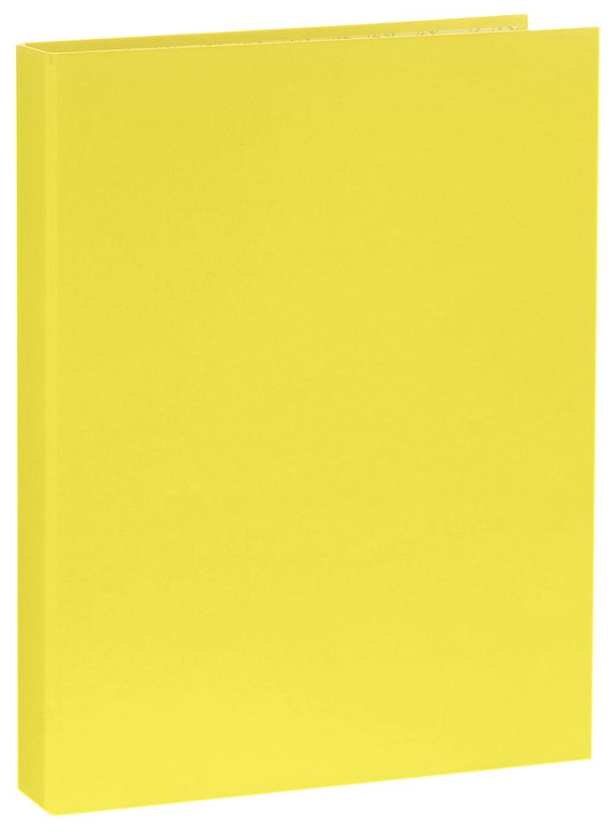Erich Krause Папка-регистратор на 2 кольцах Neon цвет желтый