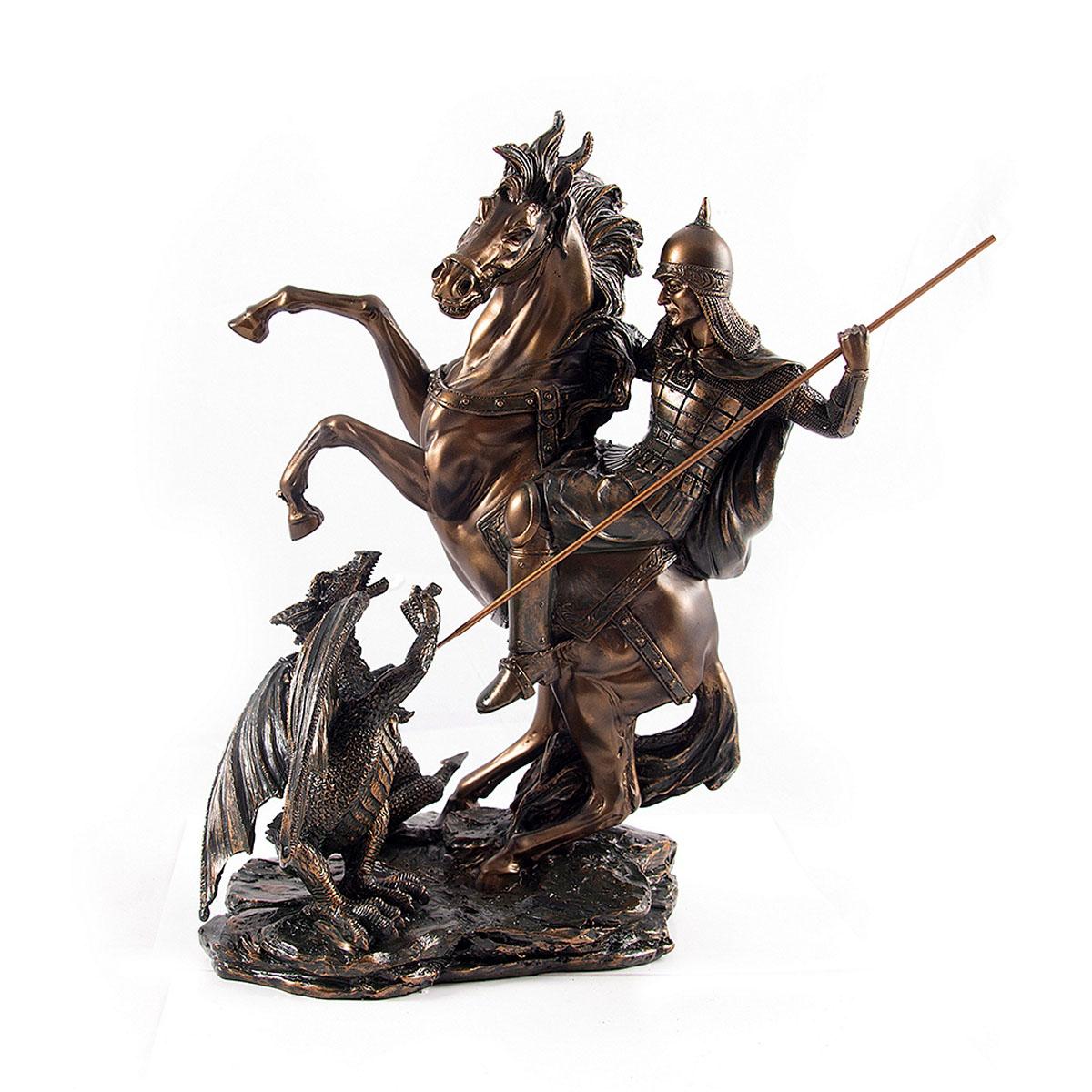 Статуэтка Русские Подарки Архангел Михаил, 28 х 36 см статуэтки русские подарки статуэтка мисс нежность