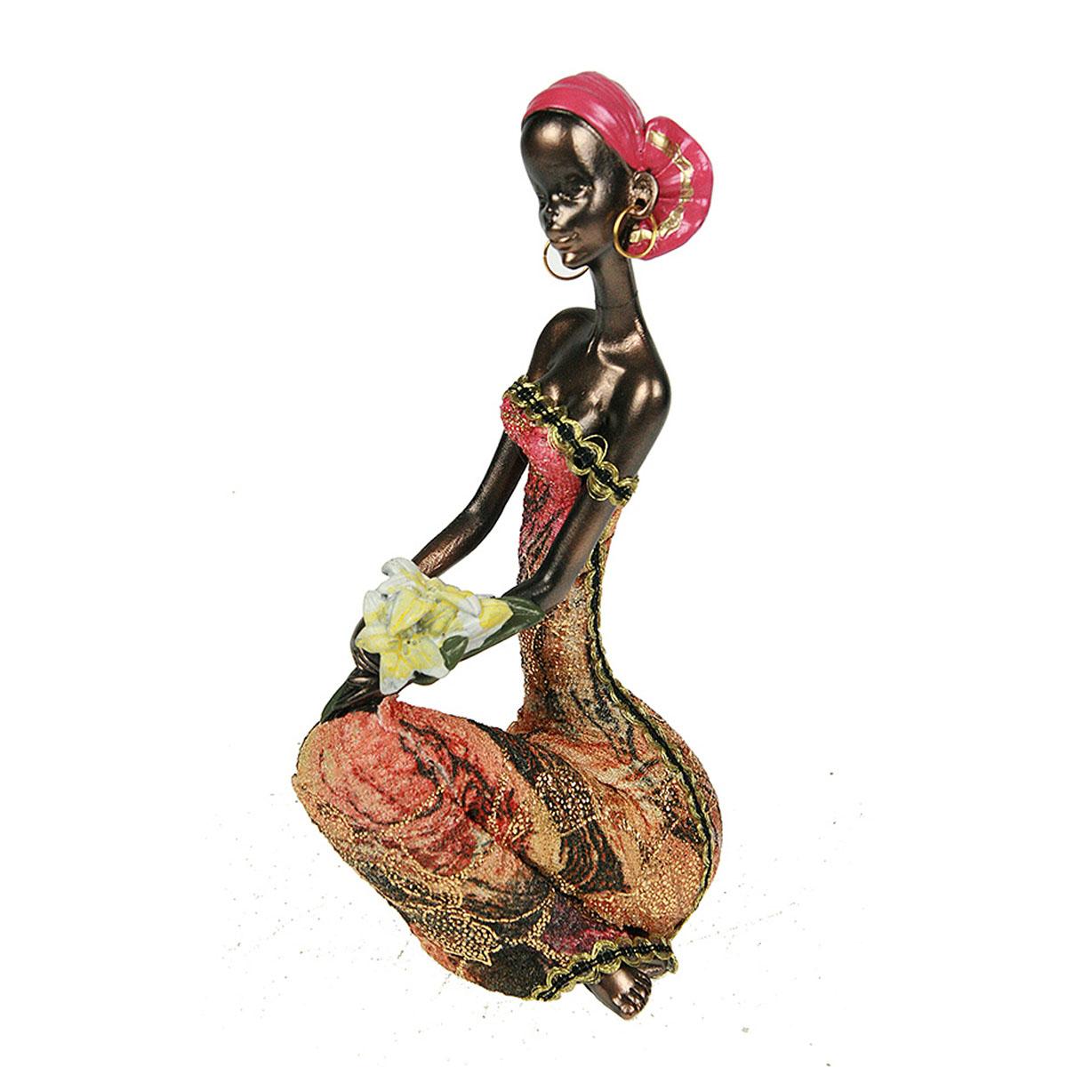 Статуэтка Русские Подарки Африканка, 7 х 9 х 18 см статуэтка lefard африканка 174 311