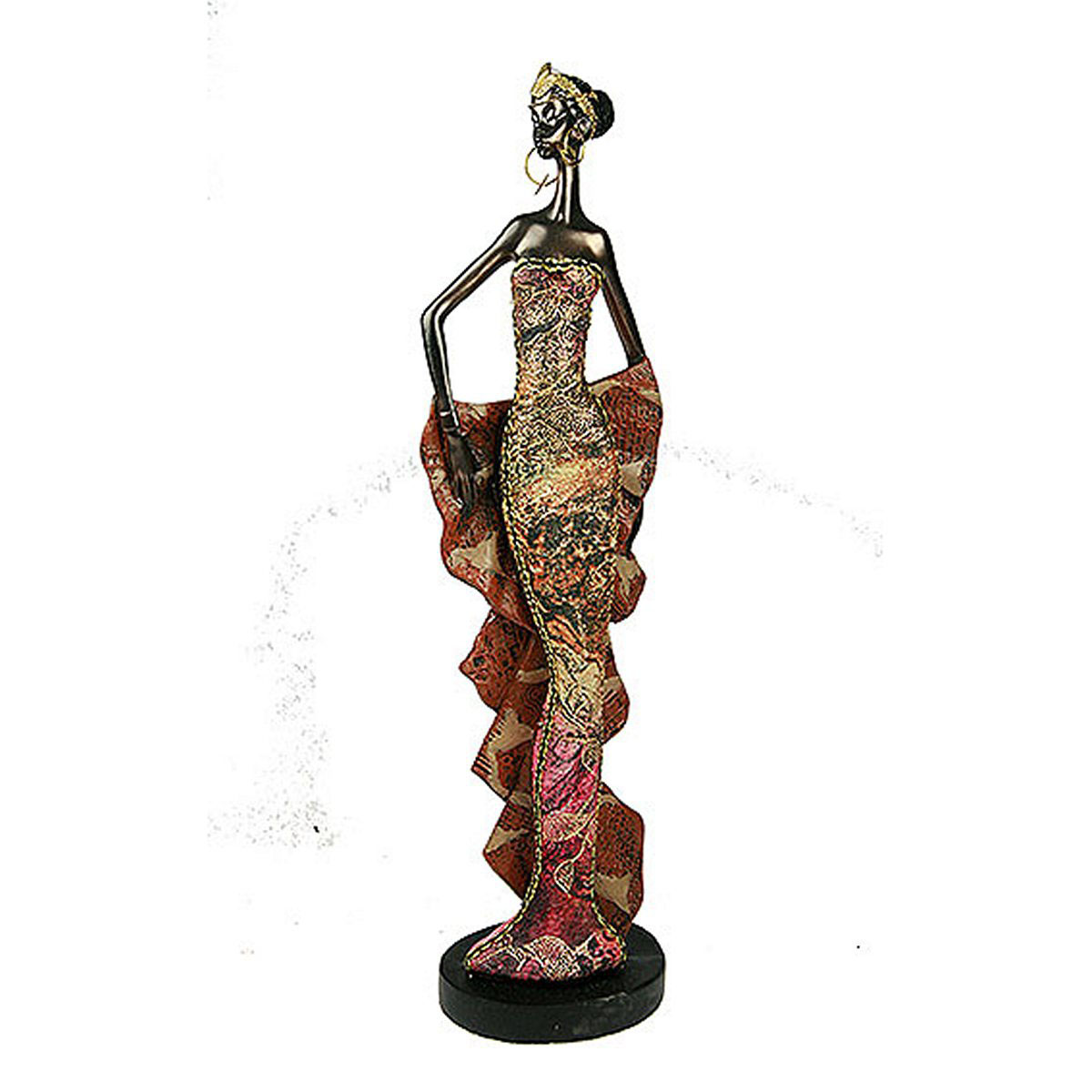 Статуэтка Русские Подарки Африканка, 7 х 9 х 33 см20612Статуэтка Русские Подарки Африканка, изготовленная из полистоуна, имеет изысканный внешний вид. Изделие станет прекрасным украшением интерьера гостиной, офиса или дома. Вы можете поставить статуэтку в любое место, где она будет удачно смотреться и радовать глаз. Правила ухода: регулярно вытирать пыль сухой, мягкой тканью.