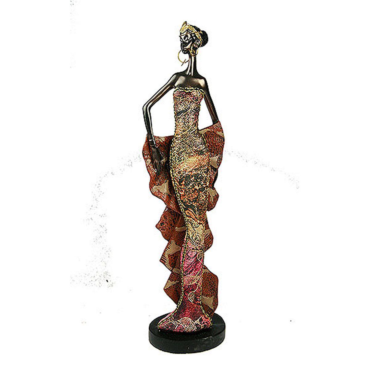 Статуэтка Русские Подарки Африканка, 7 х 9 х 33 см статуэтка lefard африканка 174 311