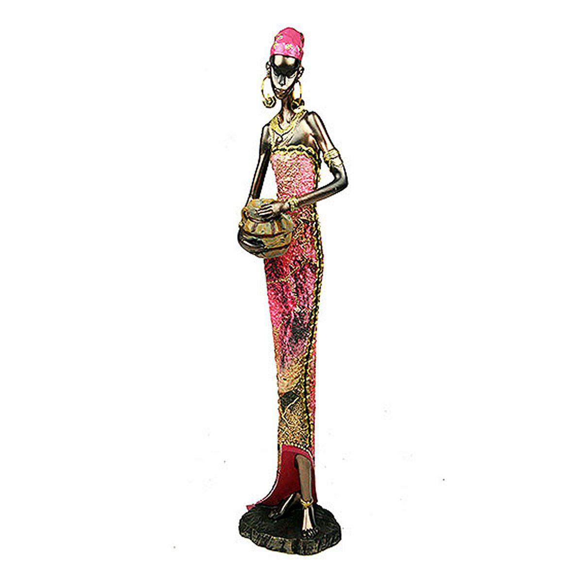 Статуэтка Русские Подарки Африканка, 6 х 8 х 31 см статуэтка lefard африканка 174 311