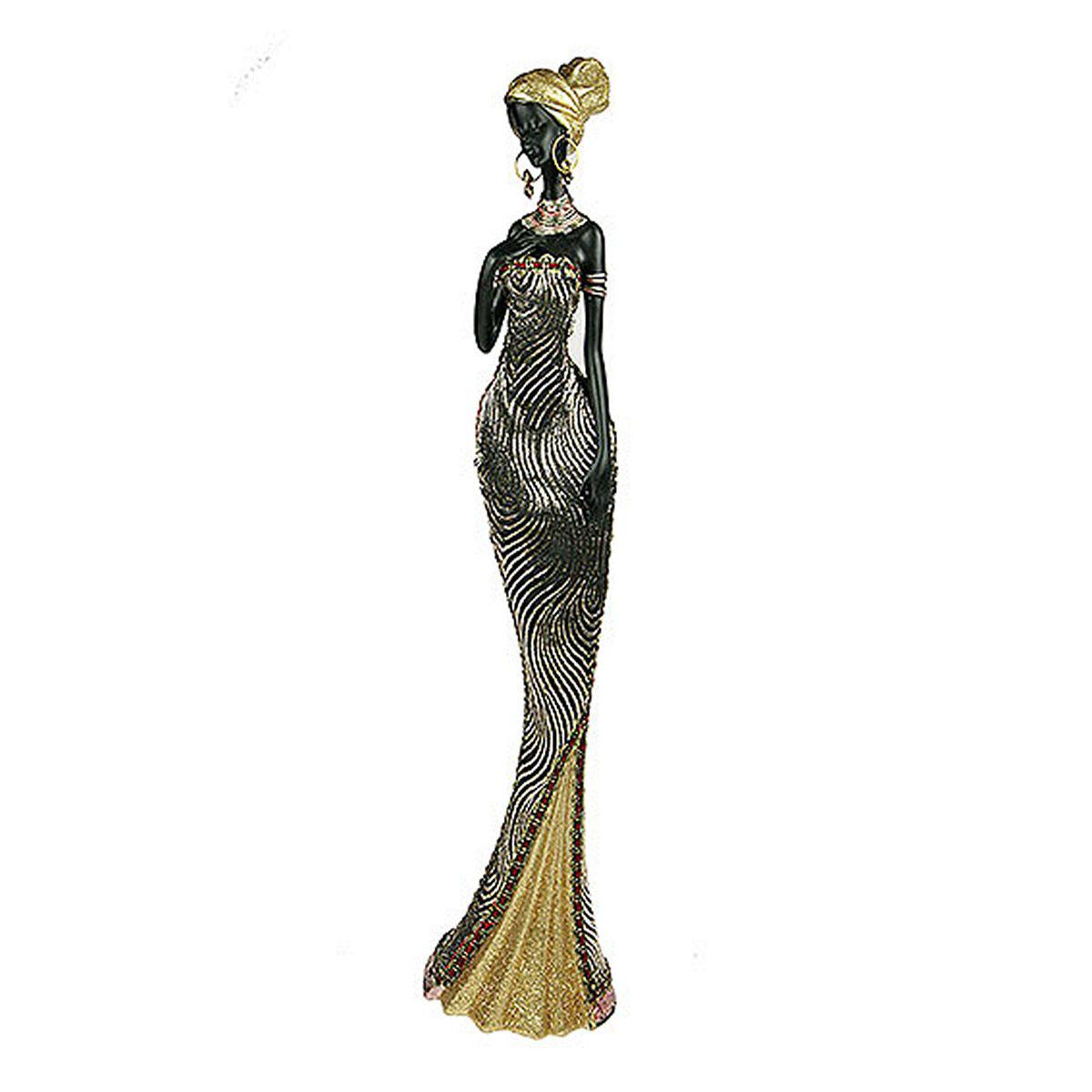 Статуэтка Русские Подарки Африканка, 10 х 12 х 43 см статуэтка русские подарки африканка 11 х 15 х 24 см