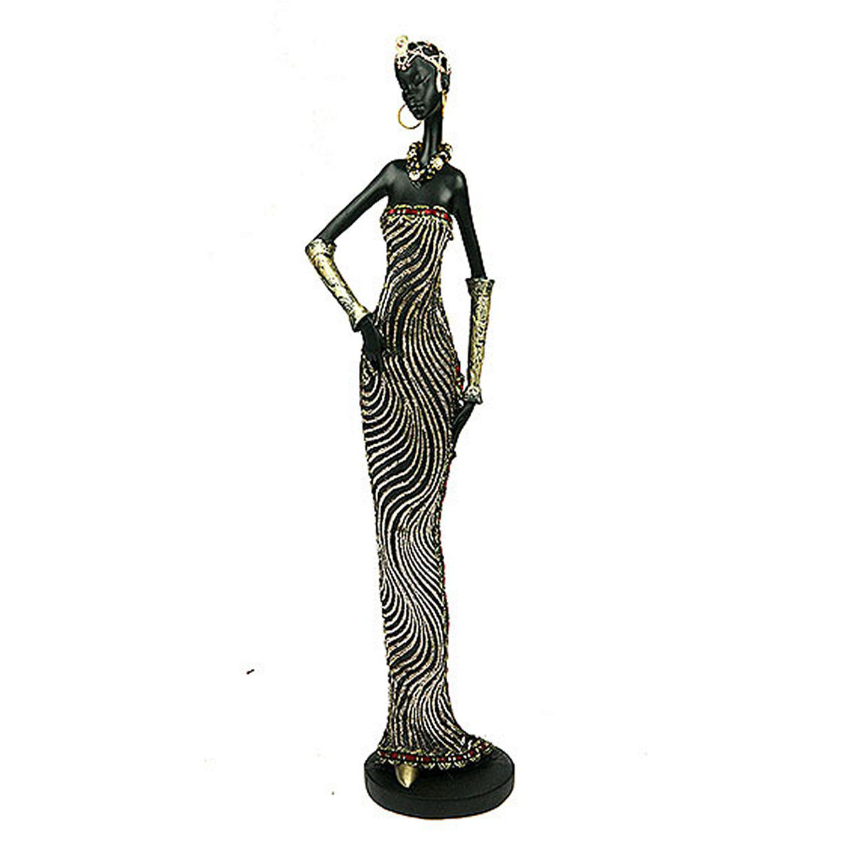 Статуэтка Русские Подарки Африканка, 7 х 8 х 32 см статуэтка lefard африканка 174 311