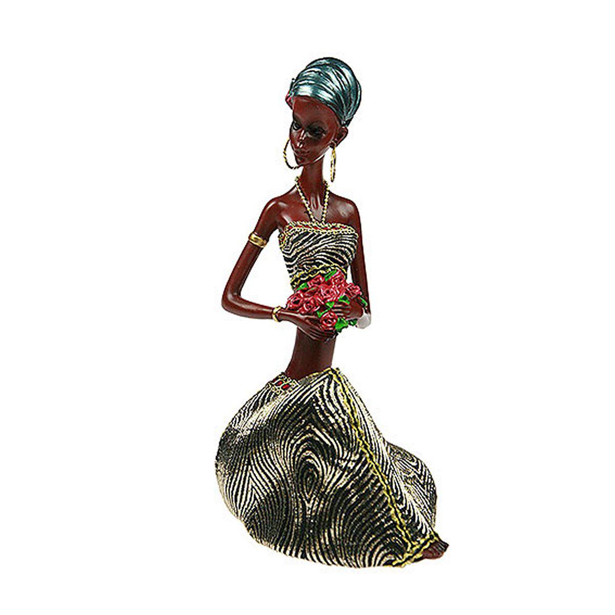 Статуэтка Русские Подарки Африканка, 11 х 15 х 24 см статуэтка русские подарки африканка 10 х 12 х 43 см