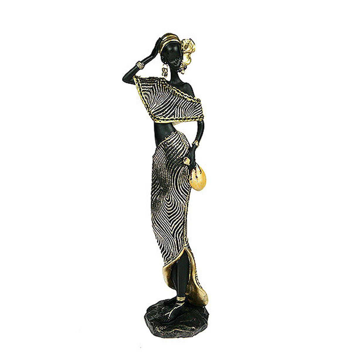 Статуэтка Русские Подарки Африканка, 10 х 10 х 38 см статуэтка lefard африканка 174 311