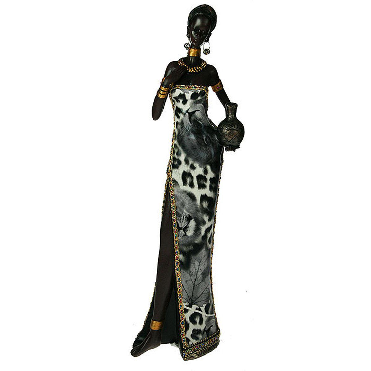 Статуэтка Русские Подарки Африканка, 14 х 8 х 43 см. 26118 статуэтка русские подарки мисс утонченность 12 х 10 х 34 см